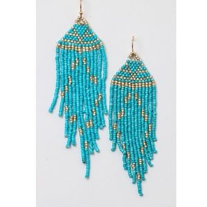 Last 2! 🌟Beaded Tassel Earrings